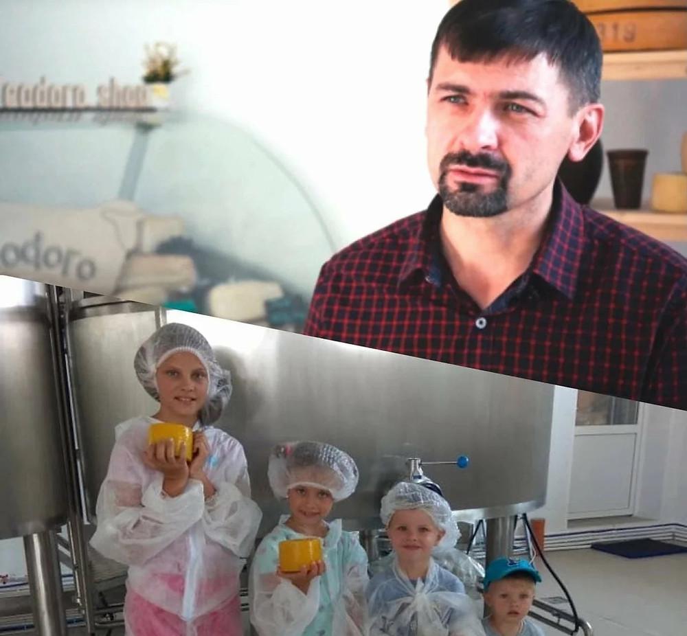 Сыровар из Крыма Денис Ваньжа и его дети