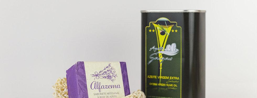 Kit Bem-Estar Tradicional Mogno com Azeite Virgem (4 em 1)