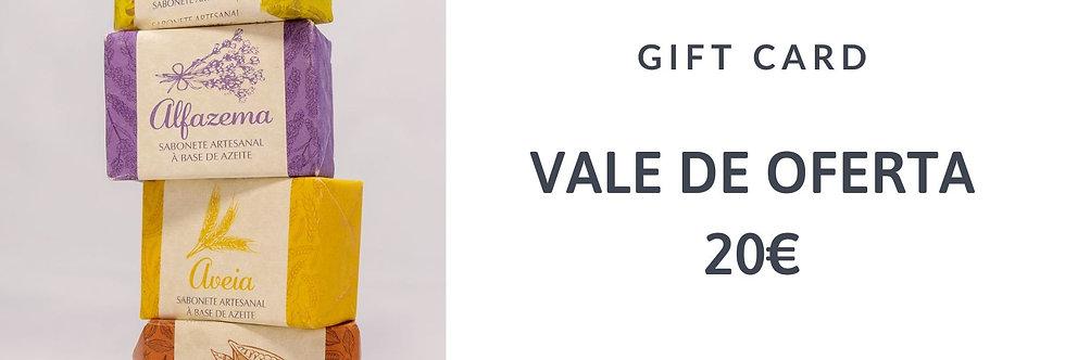 Gift Card 20 - Vale de Compras Online