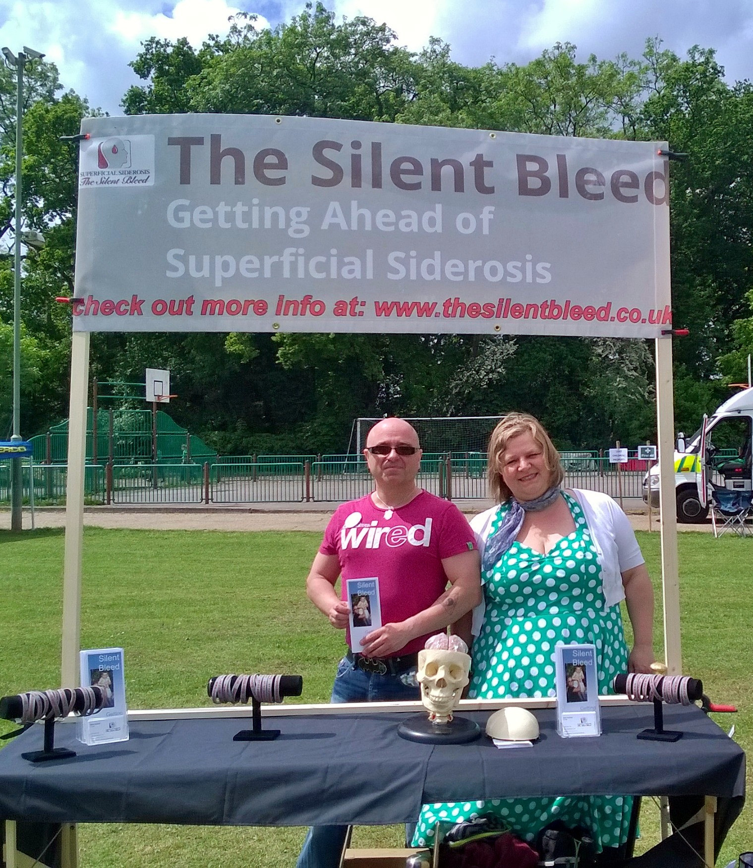 Raising awareness at a country fair in S