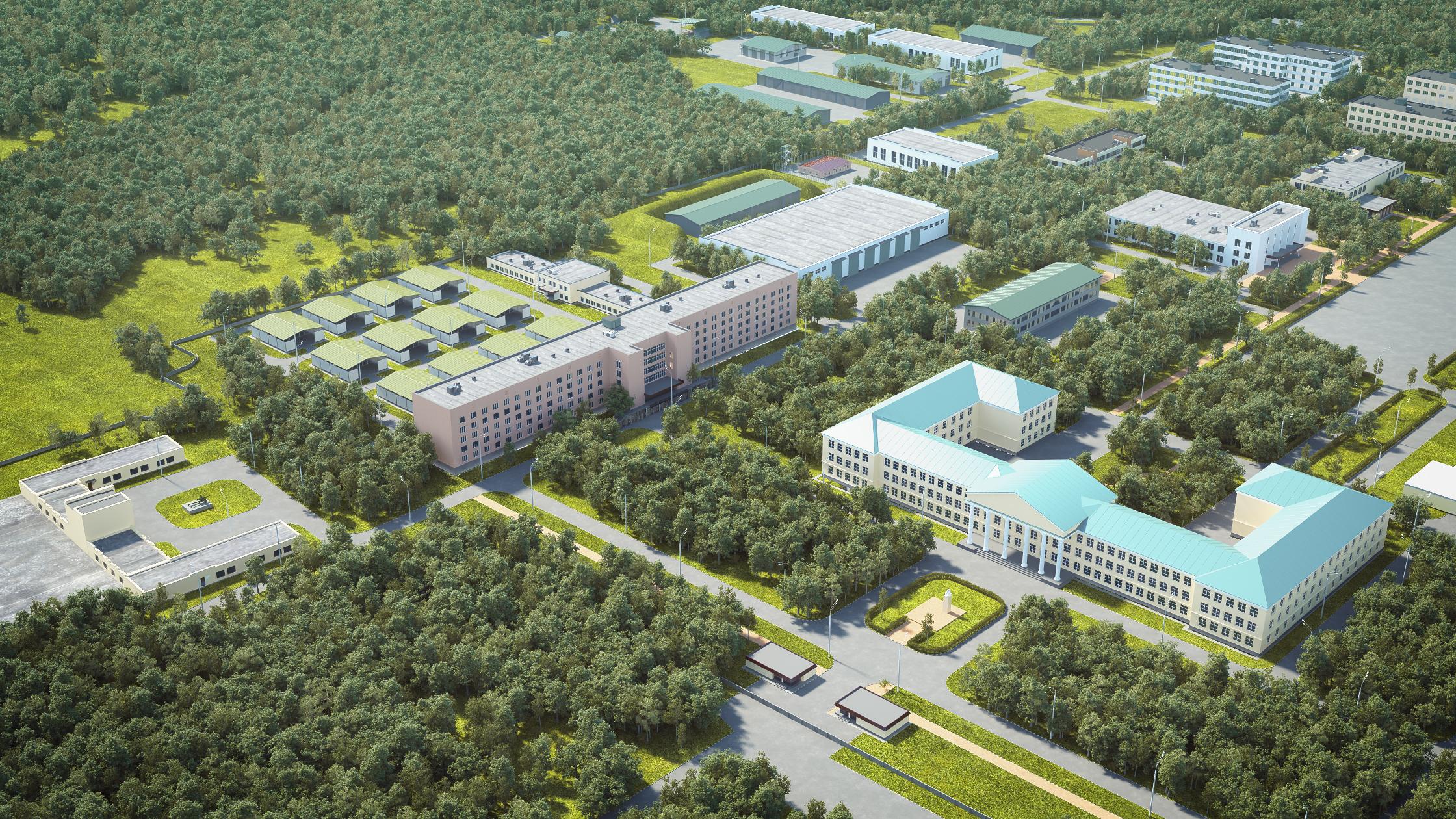 Схема участка московского городка