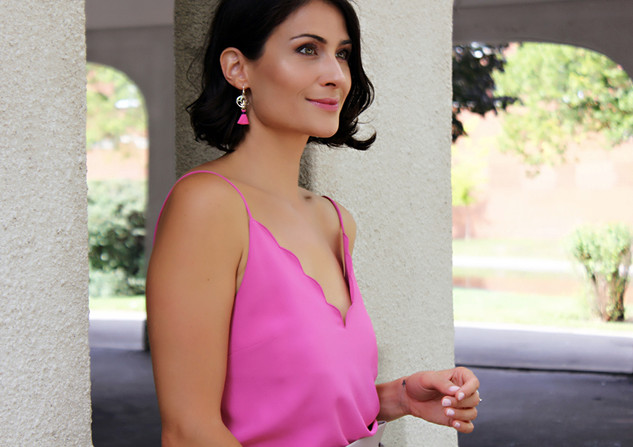 Cherry Pink earrings