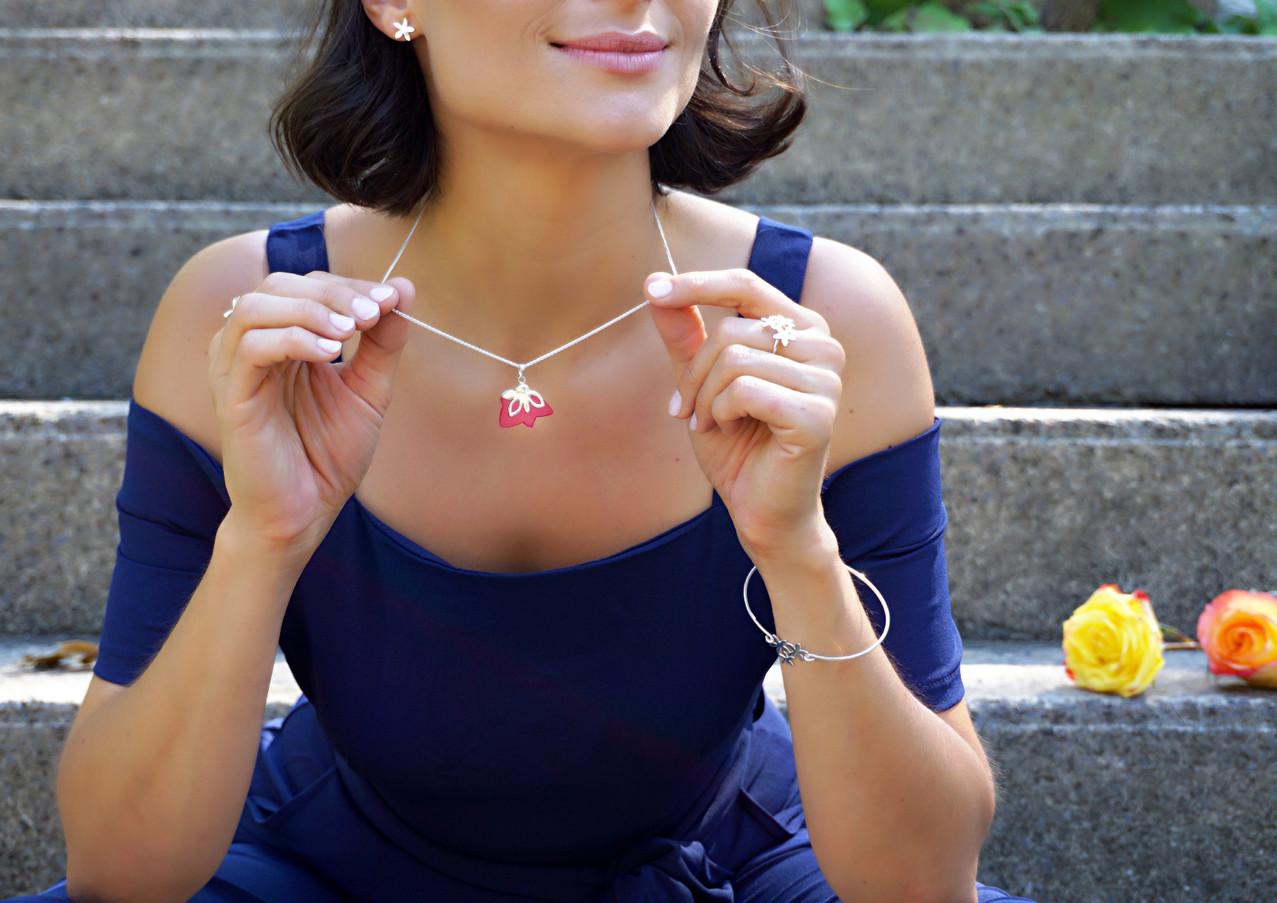 Pink cherry pendant