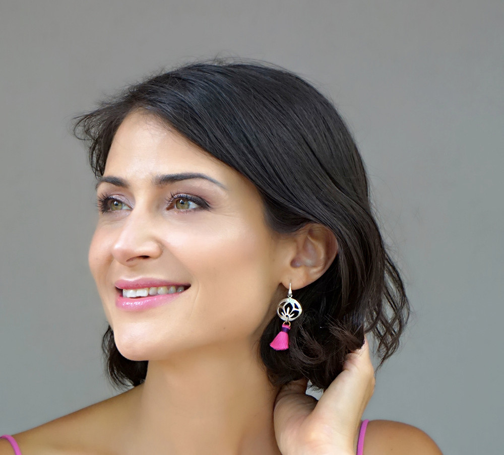 Cherry Pink earrings