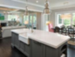White-marble-quartz-countertop-for-a-gre