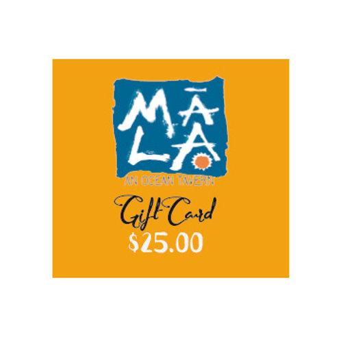MĀLA Gift Card $25.00