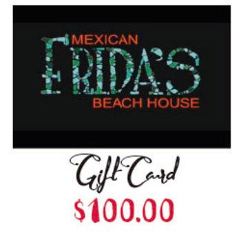 FRIDA'S Gift Carde $100.00