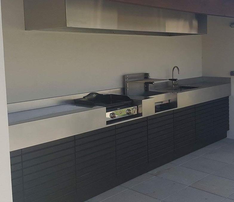 Fabricant cuisine d'été, Meuble plancha cuisine extérieure INOX