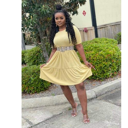 The mustard Midi dress