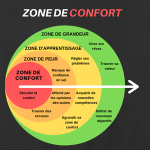 Description en image de la zone de confort