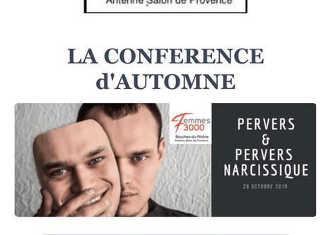 Conférence Pervers et Pervers narcissiques lundi 28 octobre restaurant l'autrefois Salon de Provence
