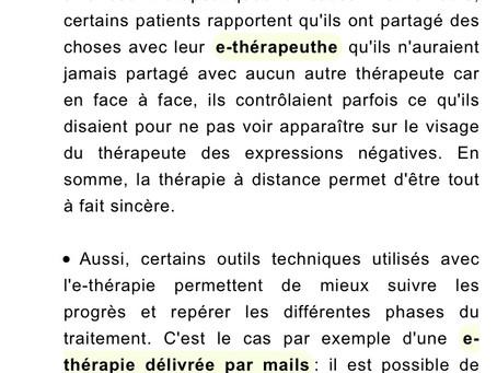 Specialisée dans l'e-therapie
