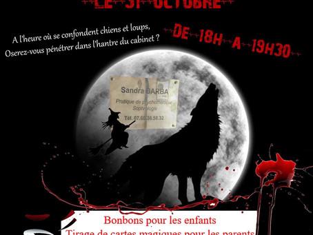 Venez fêter Halloween au cabinet jeudi 31 octobre de 18h à 19h3»