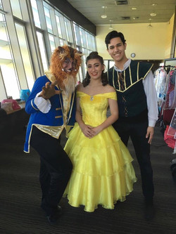 Beast, Belle, Gaston