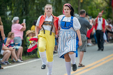 Local Hevletia, WV people participating in a parade