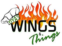 Tiya's Wings & Things logo