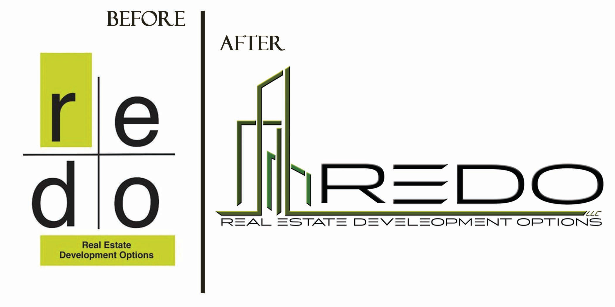 REDO logo before/after