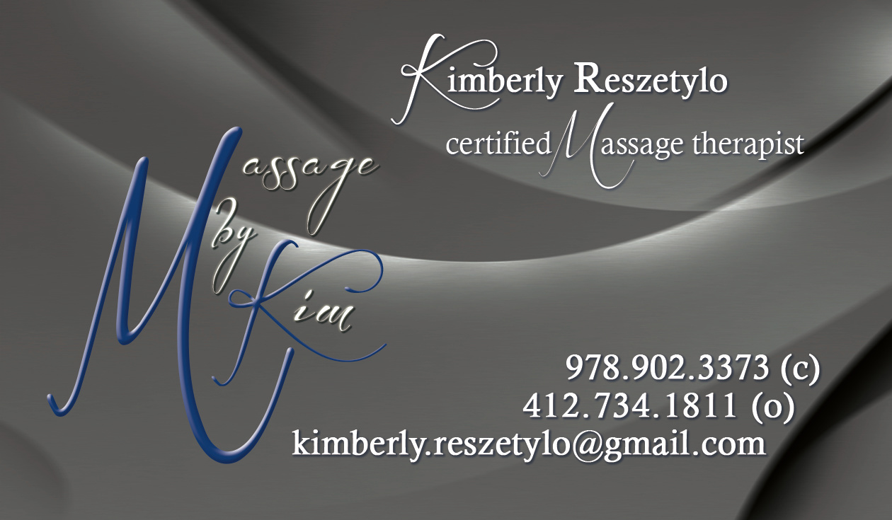 Massage by Kim Card Front