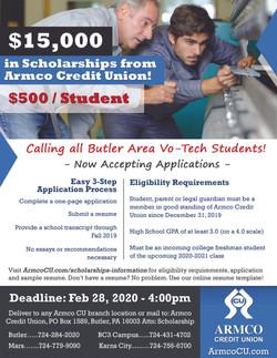 Armco Scholarship Flyer