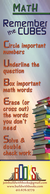 BOOKS Bookmark Math