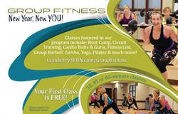 Fitness half page ad