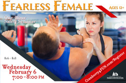 Fearless Female half page ad