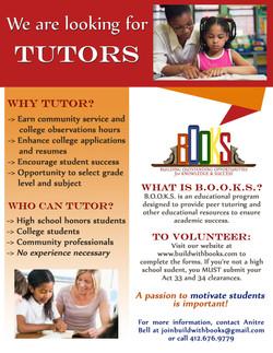 Seeking tutors flyer