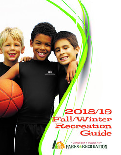 2018 Fall Recreation Guide Cover