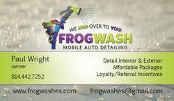 FrogWash Card Front