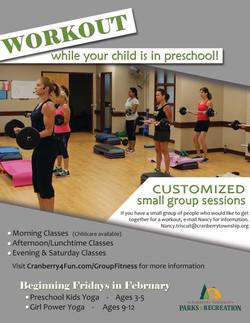 Group Fitness Preschool Flyer