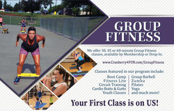 Group Fitness half page ad