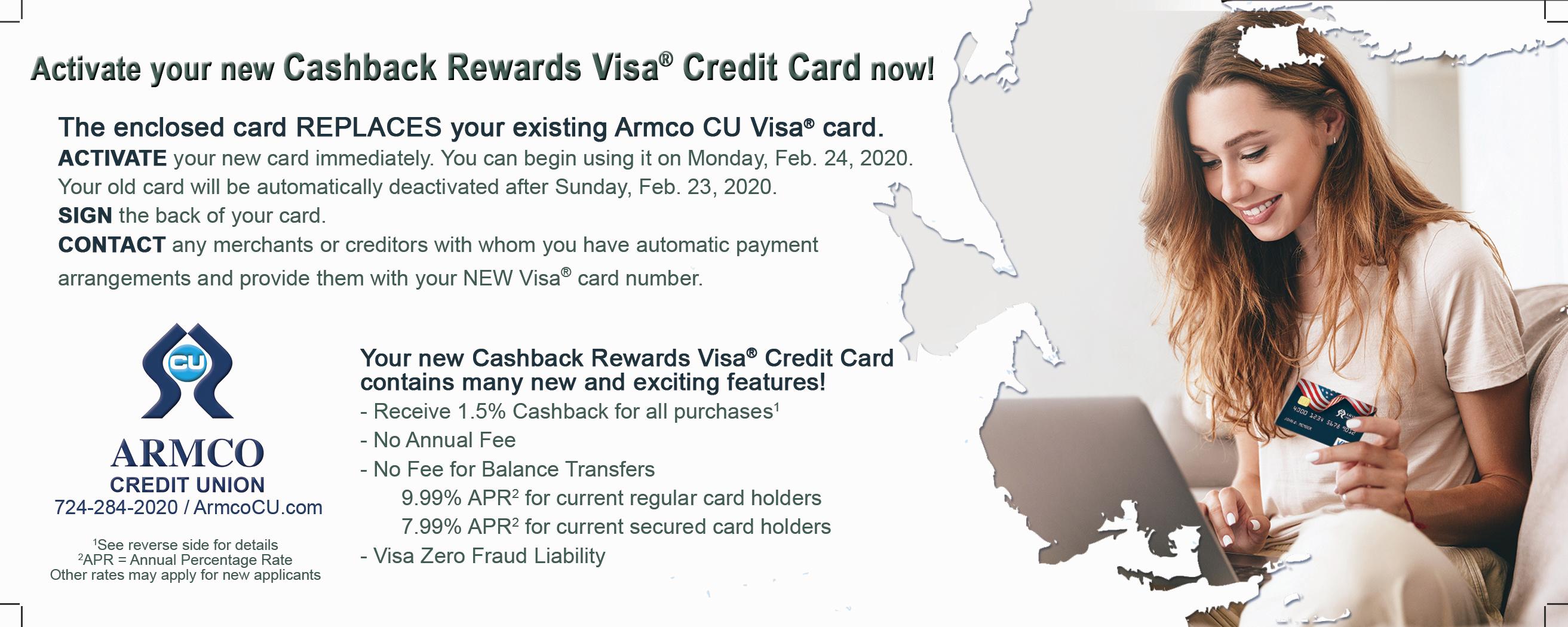 Armco Visa Insert front