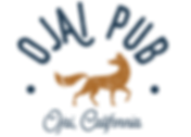 Ojai Pub logo with fox graphic