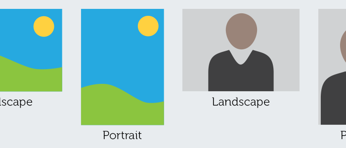 The difference between landscape and portrait