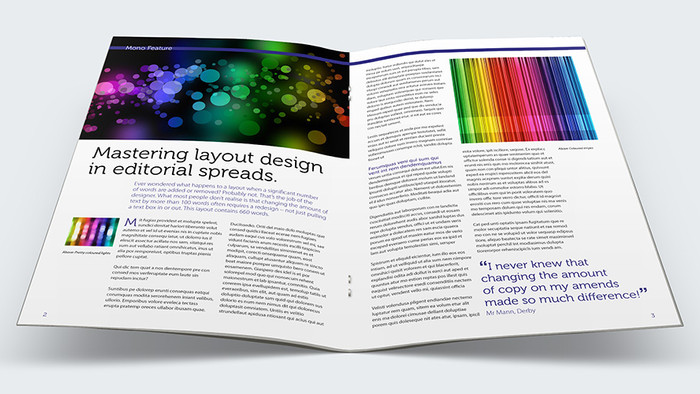 Editorial spreads: How copy changes affect layout