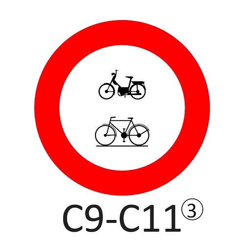 Verkeersbord C9-C11 - klasse 3