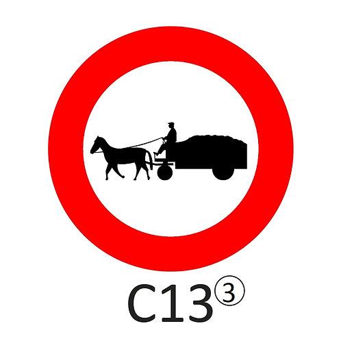 Verkeersbord C13 - klasse 3