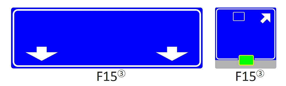 Verkeersbord F15
