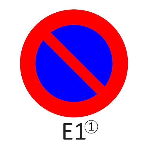Verkeersbord E1 - klasse 1