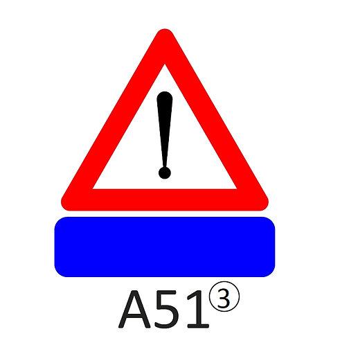 Verkeersbord A51 - klasse 3
