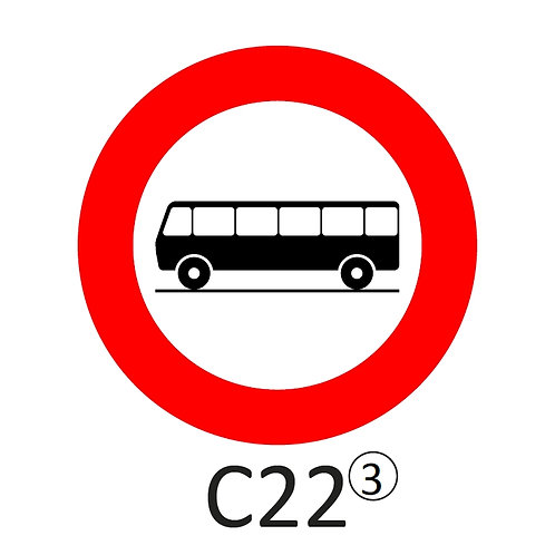 Verkeersbord C22 - klasse 3