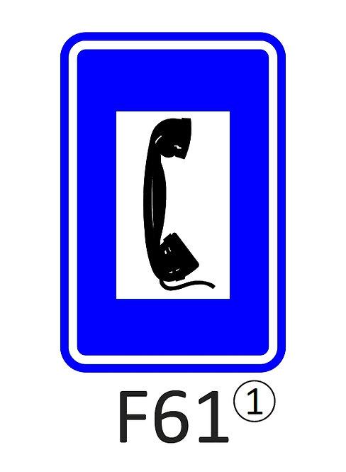 Verkeersbord F61 - klasse 1
