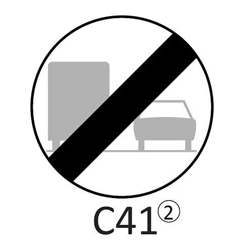 Verkeersbord C41 - klasse 2