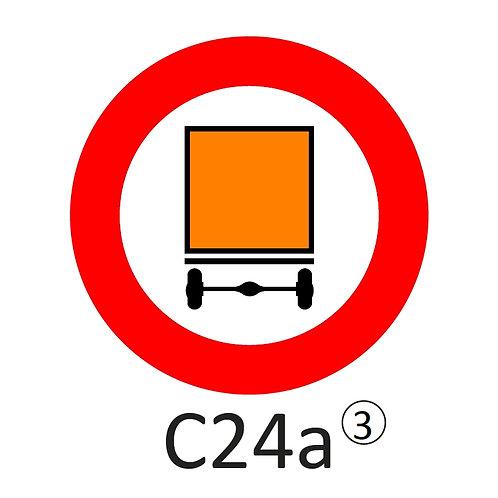 Verkeersbord C24 a, b, c - klasse 3