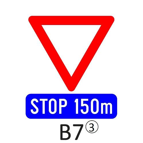 Verkeersbord B7 - klasse 3