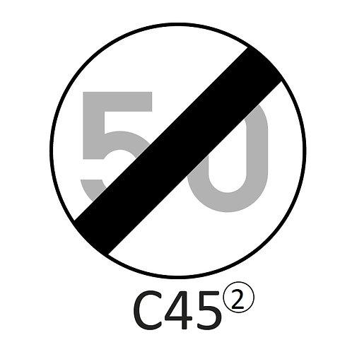 Verkeersbord C45 - klasse 2