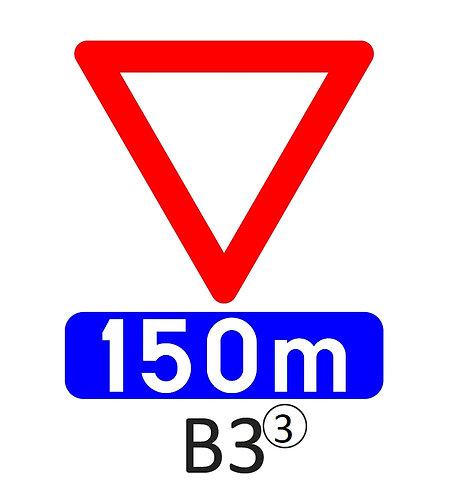 Verkeersbord B3 - klasse 3