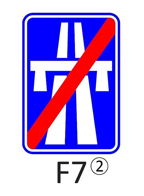 Verkeersbord F7 - klasse 2