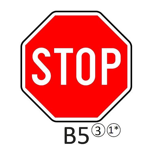 Verkeersbord B5 - klasse 3