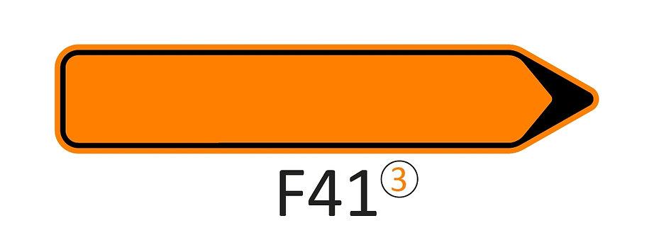 Verkeersbord F41 - klasse 3 fluo